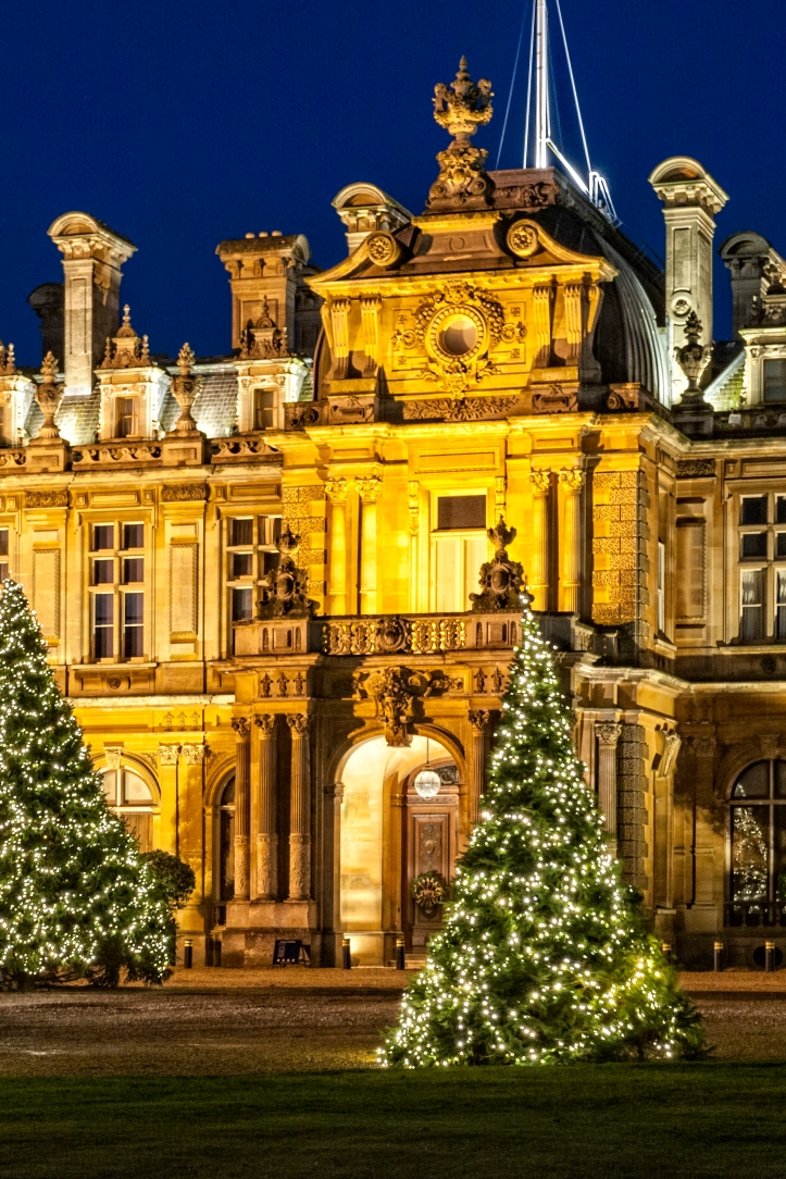 christmas-trees-on-the-north-front-at-waddesdon-photo-stuart-bebb-c-national-trust-waddesdon-manor