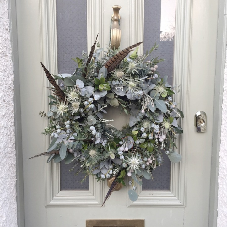 Christmas Foilage Door Wreath by The Country Flower Company.JPG