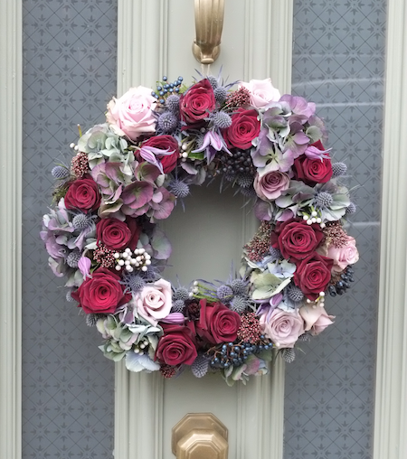 Christmas wreath by The Country Flower Company